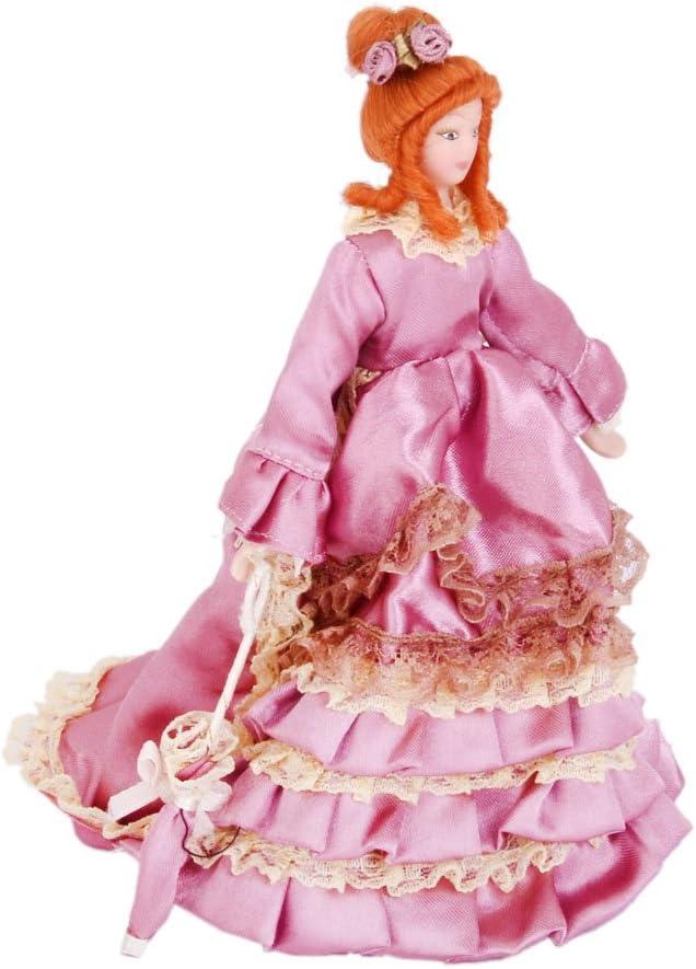 Munecas De Porcelana En Miniatura Dama Victoriana