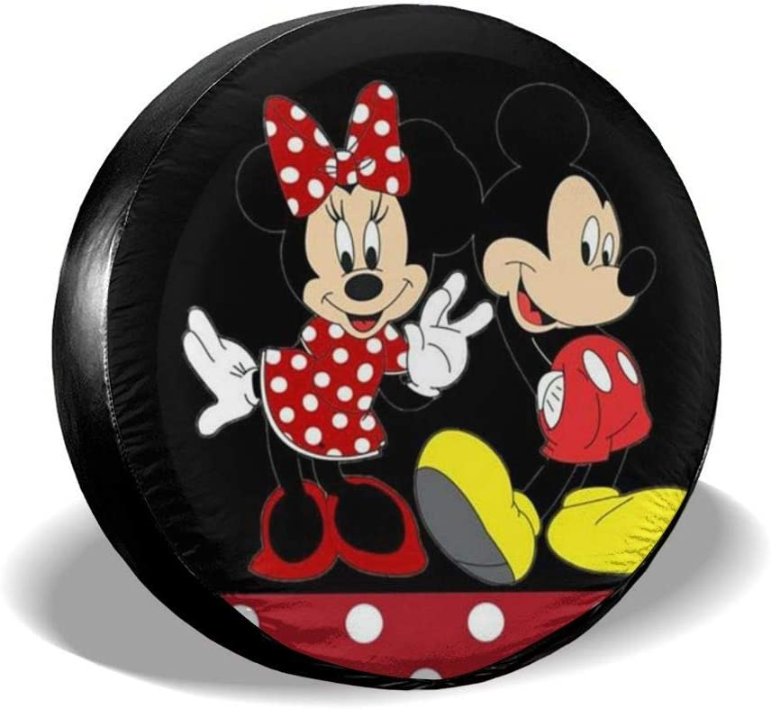 Spare Tire Cover Happy Mickey Mouse Universal Waterproof Dust-Proof Wheel Covers