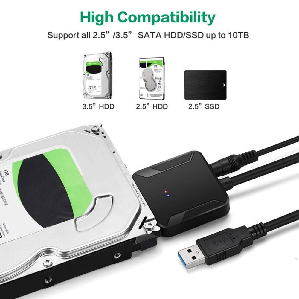 Refaxi - Cable Adaptador USB 3.0 a SATA HDD SSD para Disco Duro de ...