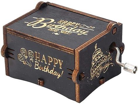 Caja de música Retro Vintage Mano de Madera manivela Caja de música artesanía hogar Adornos decoración: Amazon.es: Juguetes y juegos