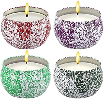 Amazon.com: YOCISIL Juego de velas perfumadas de regalo ...