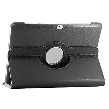 ebestStar - Compatible Funda Samsung Galaxy Tab 2 10.1, GT-P5110 P5100 Carcasa Cuero PU, Giratoria 360 Grados, Función de Soporte, Negro [Aparato: ...