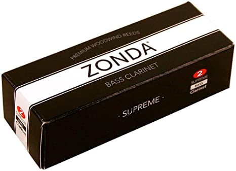 Zonda zc1220 2 Fuerza Suprema lengüetas para clarinete bajo, caja de 5