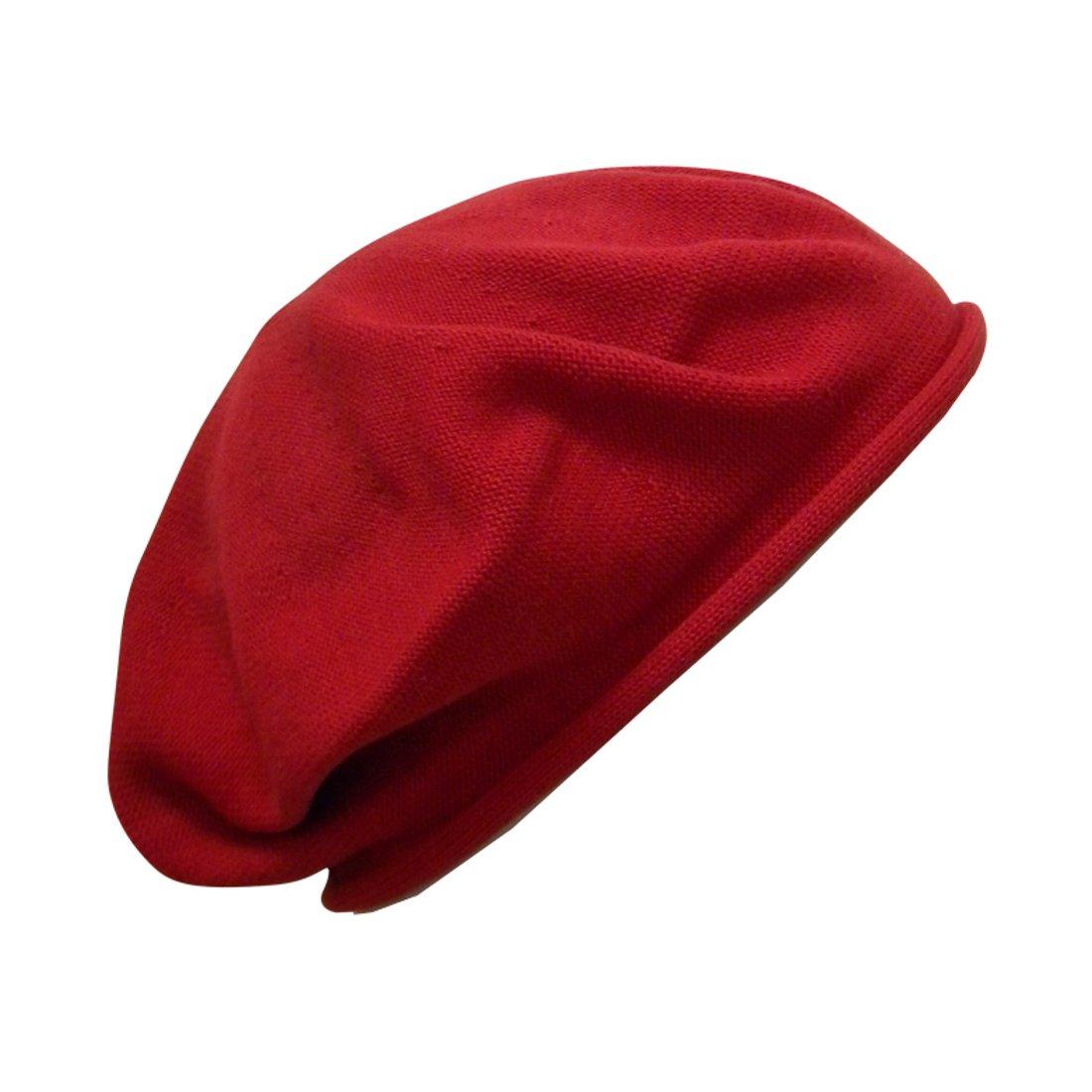 Landana Headscarves Beret for Women 100% Cotton Solid ldbt-solid-black-SF