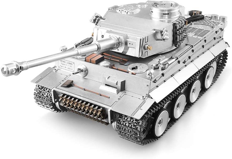 "All Metall-Fernbedienung Panzer 01.16 Gro/ße hohe Simulations-Tiger /""I/"" Tank-Modell simulierter Kampf Aktion mit Licht und Sound Effect Einf/ührung BB Kugel Beruf Kampf RC Panzern"