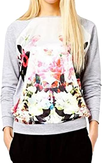 Honey GD Mens Basic Style Pullover Short-Sleeve Floral Print Tees Top