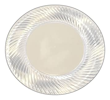 18 Premium 6 Inch Round Clear Plastic Disposable Plates With Wave Borders - Perfect for Appetizers  sc 1 st  Amazon.com & Amazon.com: 18 Premium 6 Inch Round Clear Plastic Disposable Plates ...