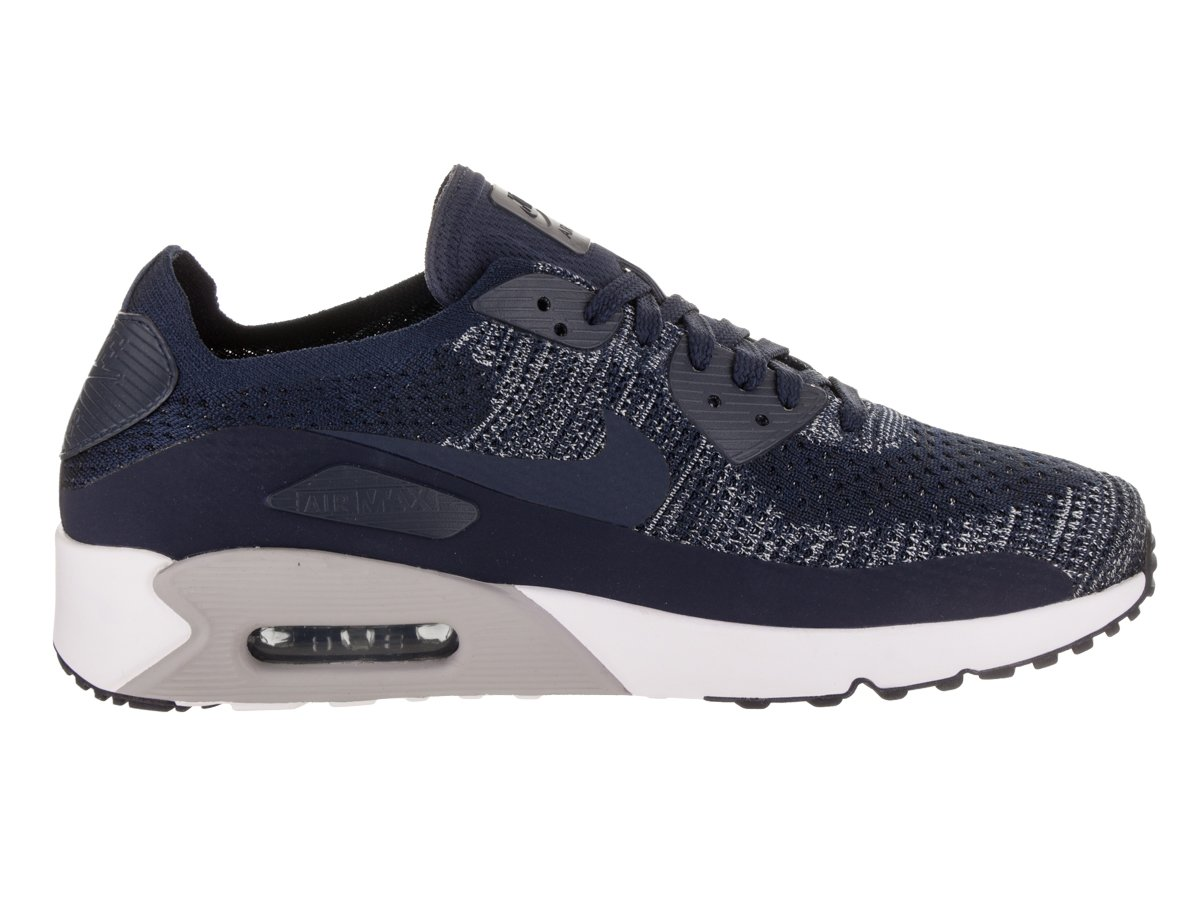 NIKE Men s Air Max 90 Ultra 2.0 Flyknit College/Navy/College/Navy Running Shoe 12 Men US