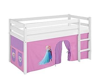Etagenbett Hochbett Spielbett Kinderbett Jelle 90x200cm Vorhang : Lilokids spielbett jelle eiskönigin hochbett mit vorhang