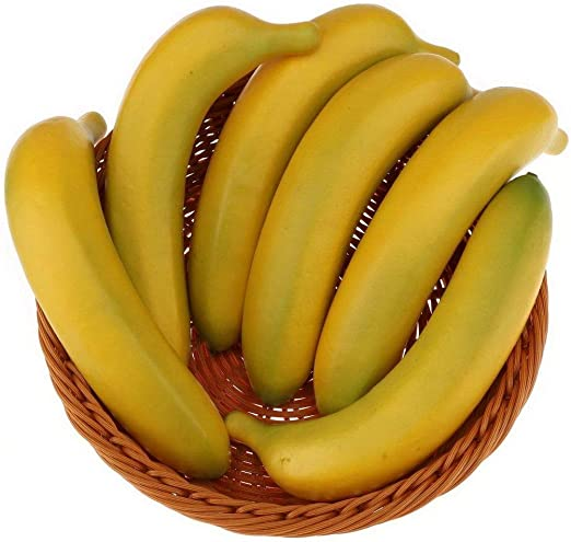 Pack 50 Artificial Realistic Bananas Miniature Fake Fruits Crafts Decor Wedding