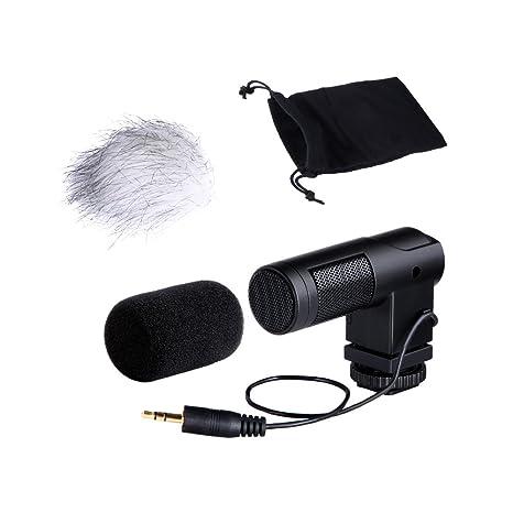 Boya BY-V01 Mini micrófono de Condensador estéreo X/Y para cámara ...