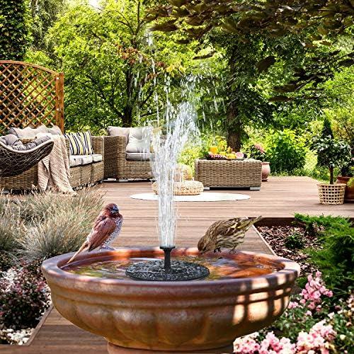 Bird Bath Solar Fountain Powered Water Pump Floating Outdoor Pond Garden Pool~