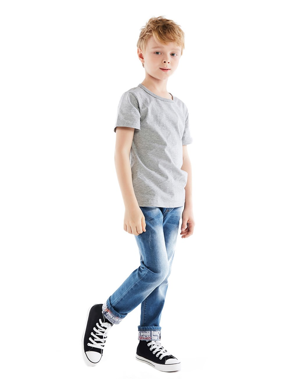 Premium Skinny Boys Jeans Slim Fit Pants for Toddlers Kids and Teens (2T, Nice LT) by HOLLAGLEE (Image #3)