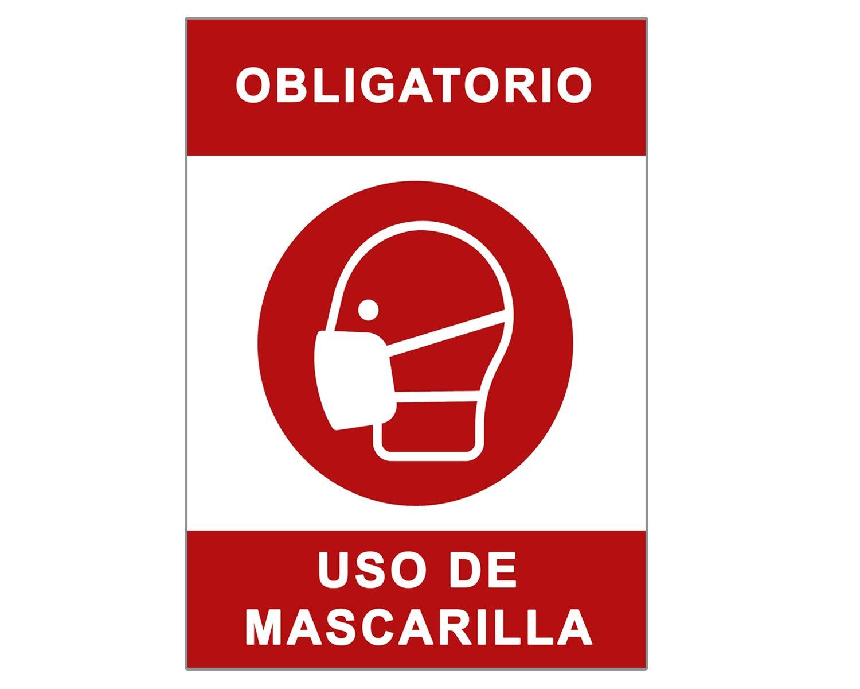 Señal Covid-19 | Cartel Uso Obligatorio de Mascarilla para Establecimientos y Lugares Públicos | Señalización Coronavirus | 21 x 30 cm | Descuentos por Cantidad