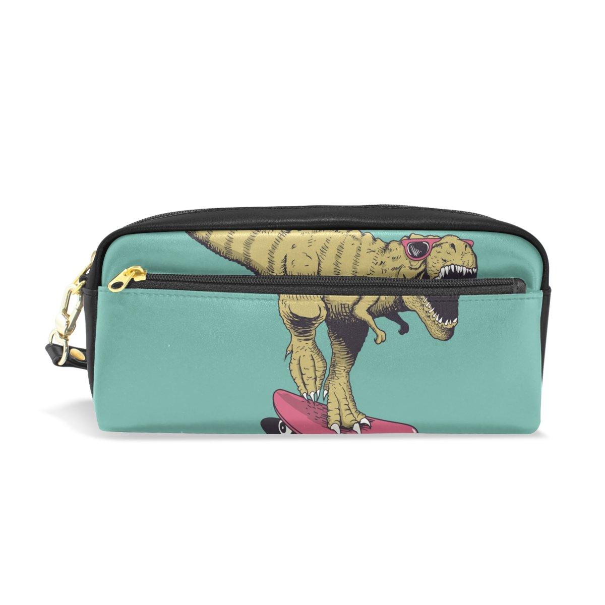 【爆売り!】 Colourlife B07DXNJ2NP Dinosaur Pencil Case Dinosaur Ridesレザーポーチバッグメイクアップコスメティックバッグ Case B07DXNJ2NP, KBF/ケービーエフ:5e9b8433 --- svecha37.ru