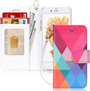 iPhone 6 Case, iPhone 6S Case, FYY [RFID Blocking Wallet] 100% Handmade Wallet Case Stand Cover Credit Card Protector for iPhone 6/6S Pattern 15