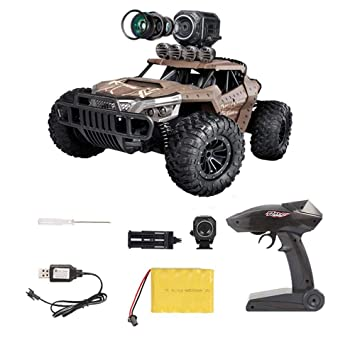 Buy Lesgos Rc Cars With Camera Remote Control Truck With Wi Fi Hd Camera 1 16 Scale Remote Control Off Road Racing Car 4wd 2 4ghz Vehicle Crawler For Kids Adults Online At Low Prices