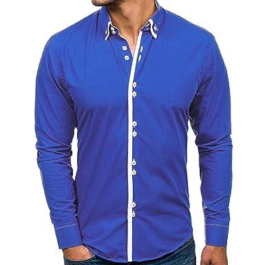 Herren Herbst Einfaches Einfarbiges Hemd Langarm Mode Knopf Jacke