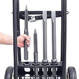 "Makita HM1812X3 70 Advanced AVT Breaker Hammer with 1-1/8"" Hex, 4-Piece Steel Set and Premium Cart, 70 lb"