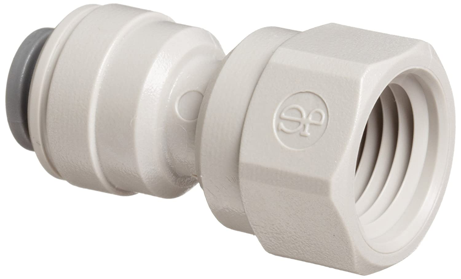 "John Guest Acetal Copolymer Tube Fitting, Adaptor, 3/8"" Tube OD x 1/4"" NPTF Female (Pack of 10)"