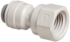 "John Guest Acetal Copolymer Tube Fitting, Adaptor, 3/8"" Tube OD x 1/4"" NPTF Female (Pack of 10)"