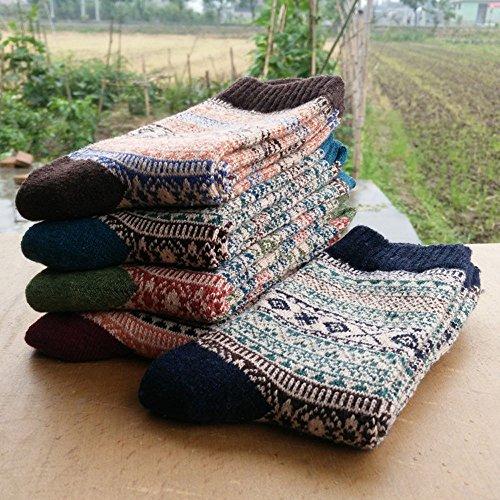 Kobay Imprimées Chaudes Hommes Laine Tricot Chaussettes 5 B Paires vrwvO