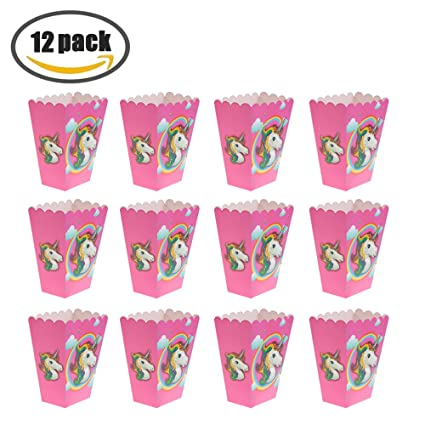 Amazon Unicorn Popcorn Boxes Rainbow Popcorn Box Bulk For Kids