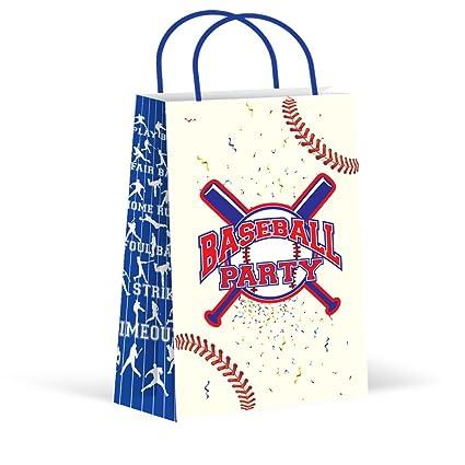 Image Unavailable  sc 1 st  Amazon.com & Amazon.com: LARZN Premium Baseball Party Bags Treat Bags New Gift ...