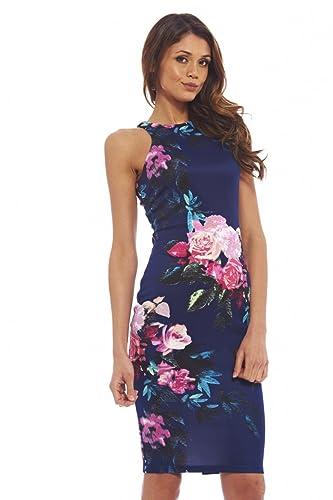 AX Paris Women's Floral Bodycon Midi Dress