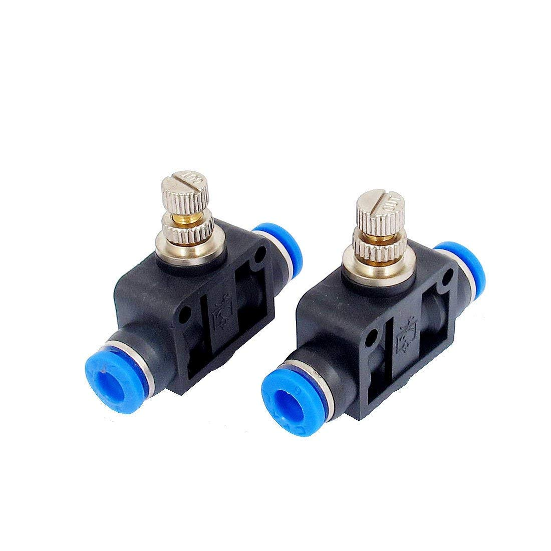 uxcell 6mm OD Tube Flow Speed Control Valve Pneumatic Push in Fittings 2pcs  : Amazon.in: Garden & Outdoors