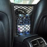 MAXTUF Car Mesh Storage 2-Layer Universal Car Seat Back Mesh Organizer, 10.8 x 9.8 Inch Cargo Net Pouch Bag with 4 Hooks to Fix On for Phone Tissue Holder and Pets Children Kids Barrier