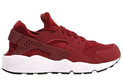 NIKE Mens Air Huarache Running Shoe Red/Red Size 10