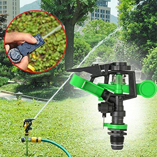 MingXiao 12X10 CM Boquilla de rociadores de césped Riego Boquilla de riego giratoria de 360 Grados Goteo de rociador...