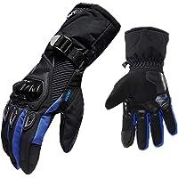 B Blesiya waterdichte motorfiets motorfiets scooter lederen sport lange handschoenen - blauw L