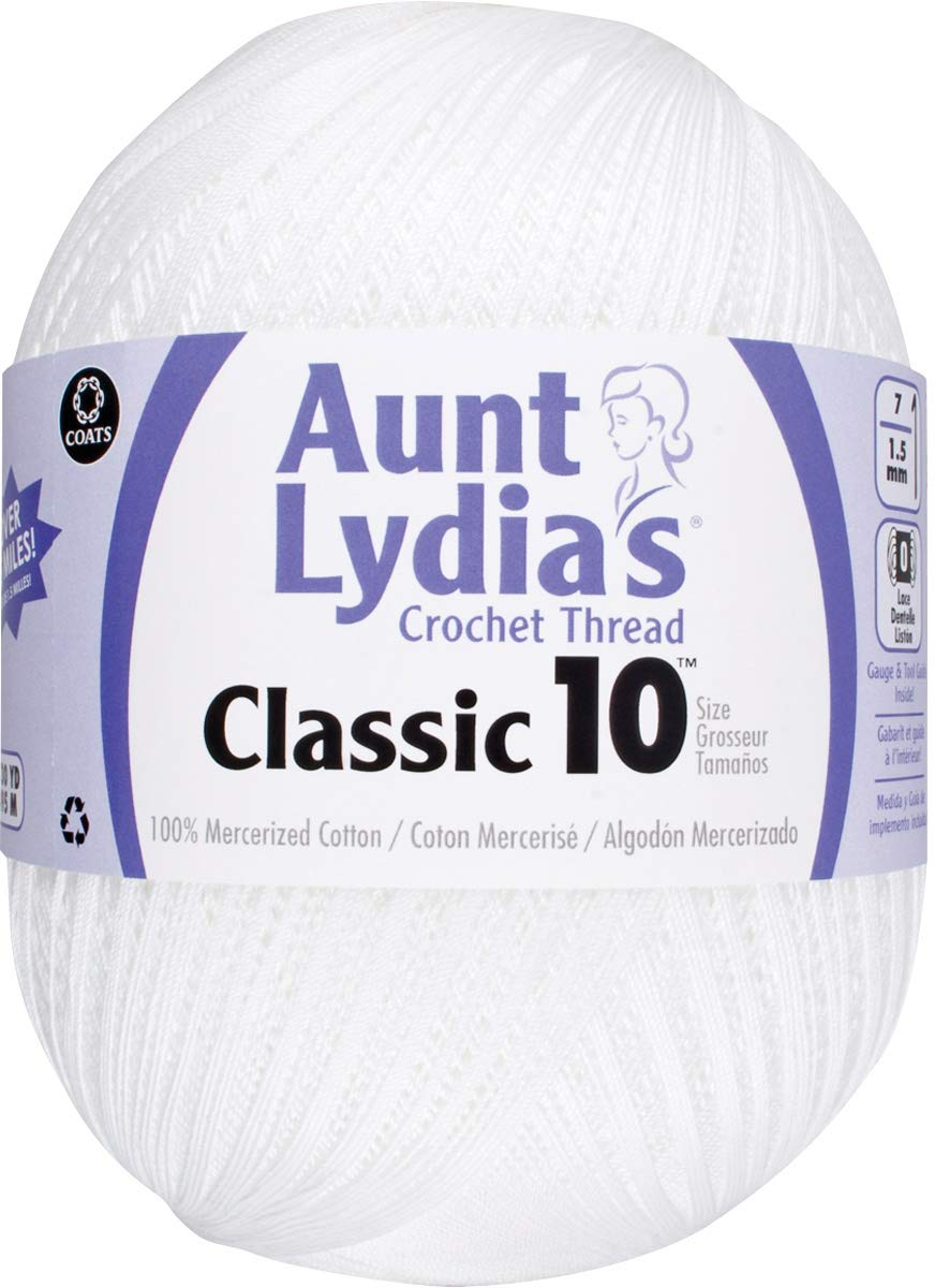 Aunt Lydia's 99735 Classic Crochet Thread Size 10 Jumbo, Multipack of 4 by Aunt Lydia's (Image #2)
