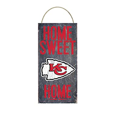 Home Sweet Home Distressed Vintage Wood Sign for Fan Wall Decor CHOOSE YOUR TEAM!!! (Kansas City Chiefs)