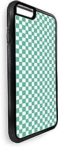 ديكالاك غطاء حماية خلفي لاجهزة ايفون 8 بلس بتصميم زخرفة مربعات خضراء