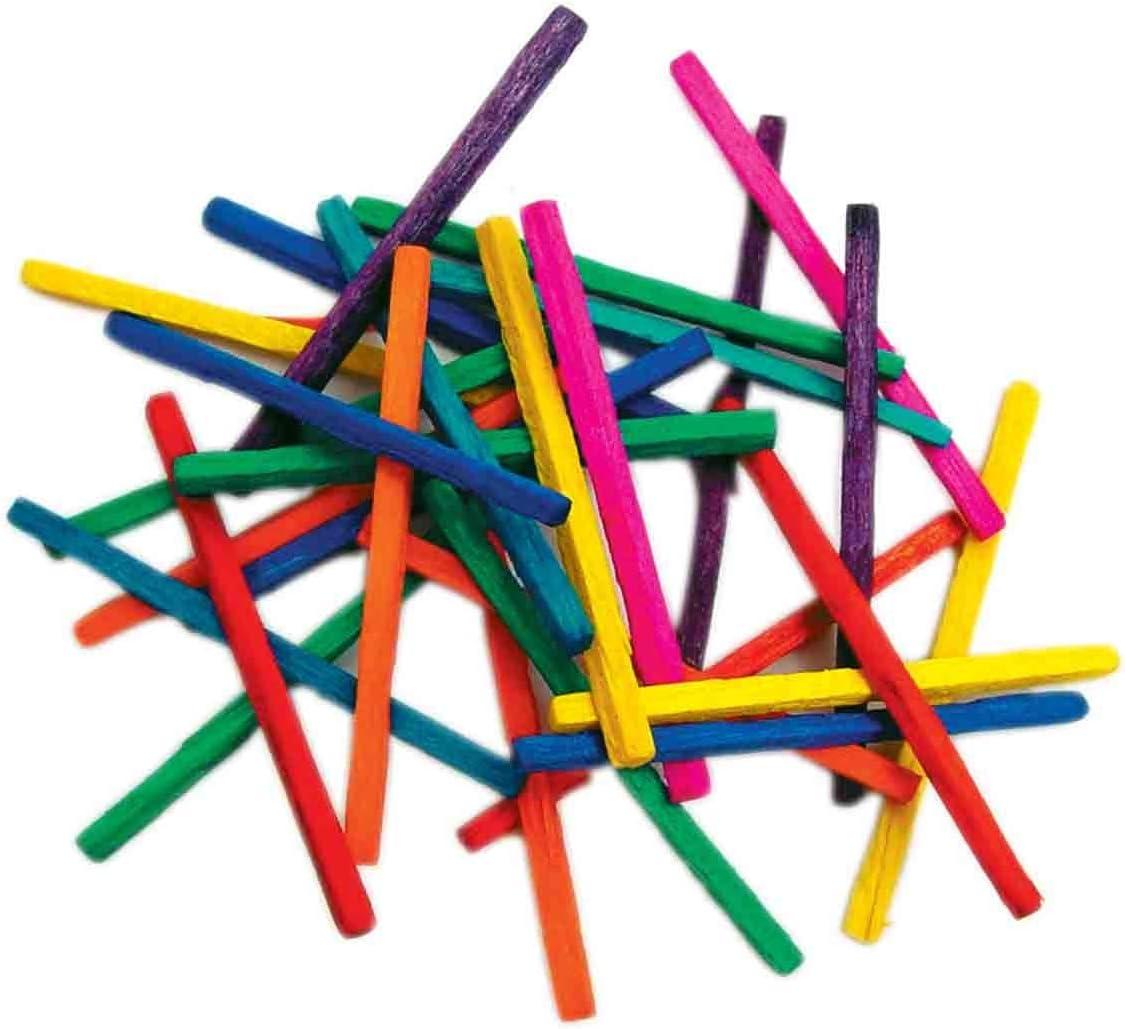 Loisir cr/éatif 500 pi/èces CTOP Allumettes 4,3 cm Multicolores