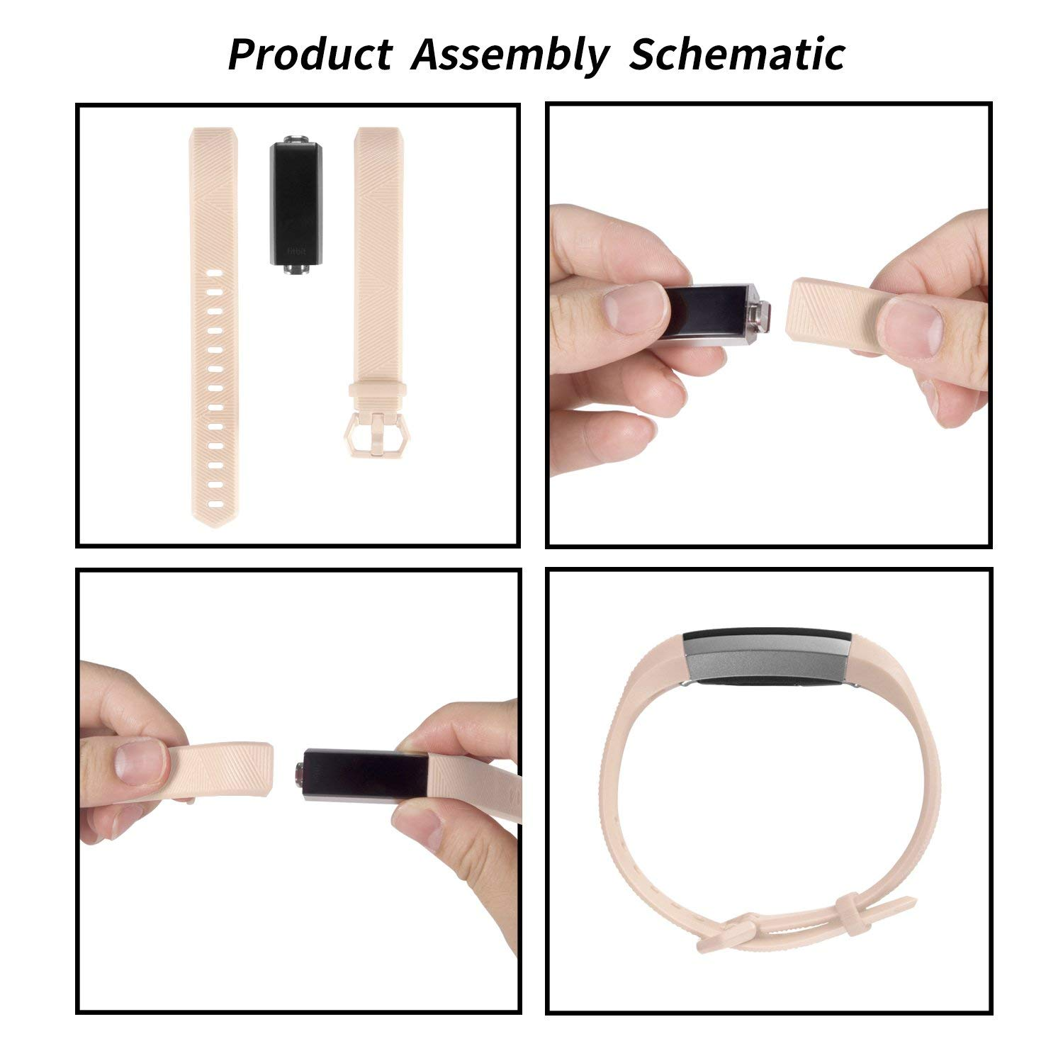 Adjustable Soft Silicone Sports Replacement Accessories Bands for Fitbit Alta HR//Fitbit Alta//Fitbit Ace,Women//Men,Large//Small TreasureMax for Fitbit Alta Bands and Fitbit Alta HR Bands