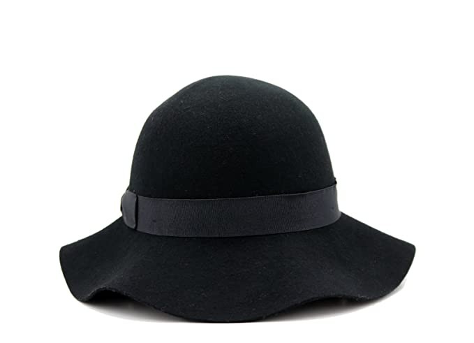1930s Style Hats | Buy 30s Ladies Hats Womens Winter Short Brim 100% Wool Cute Bowler Felt Hat (black) $29.99 AT vintagedancer.com