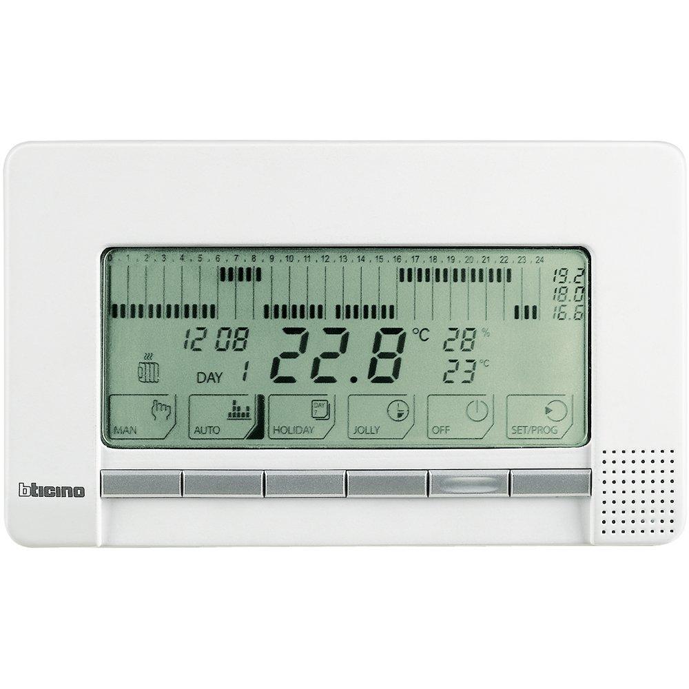 Bticino Livinglight N4450 - Ll-Cronotermo 2X1,5V Sup. Blan: Amazon.es: Bricolaje y herramientas