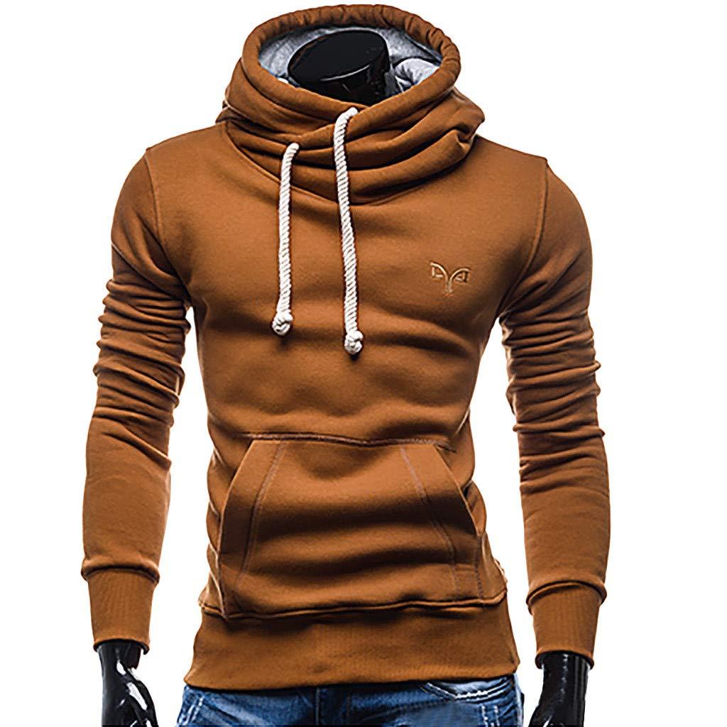 MCYs Herren Herbst Winter Taschen Pullover Outwear Bluse Langarmshirts Sweatshirt Mantel Sweater Sweatjacke Parka Lä ssige mit Kapuze