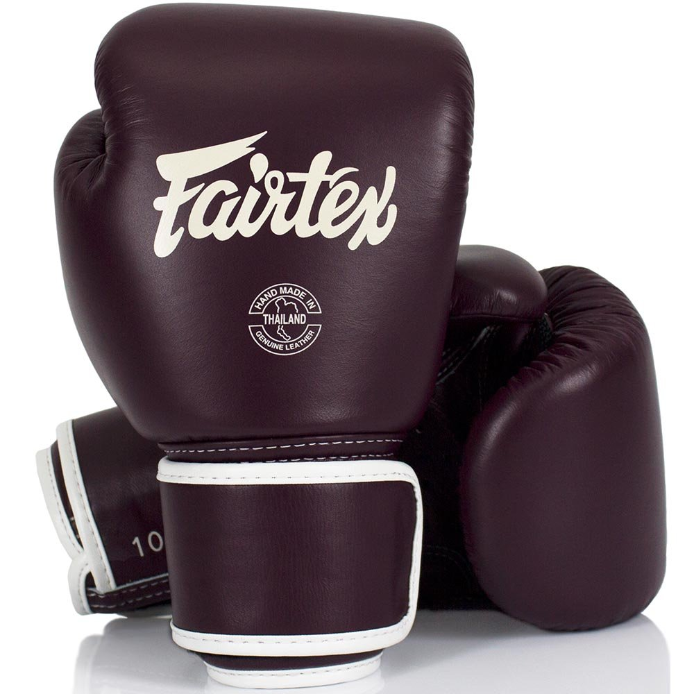 Muay Thai Boxing Gloves BGV16 Fairtex Boxhandschuhe Leder maroon