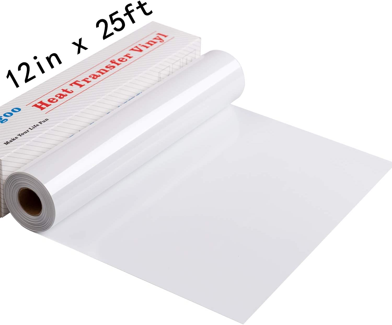 25Feet Iron On Vinyl Rolls,Heat Transfer Vinyl for Cricut and Silhouette Cameo,Easy to Cut /& Weed HTV Vinyl Roll Black Vinyl Heat Transfer for T-Shirts