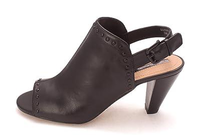 Tahari Womens Elton Open Toe Formal Slingback Sandals Black Size 50