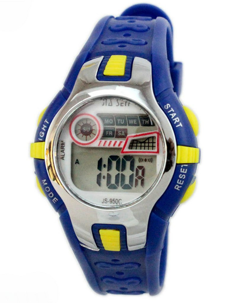 Boys Girls Outdoor Digital Quartz Waterproof Jelly Colorful Sports Watches For 7-15 Years Old Dark Blue by GXFCO