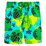 Vilebrequin Mappemonde Dots Swim Shorts - Boys - Veronese Green - 4Yrs