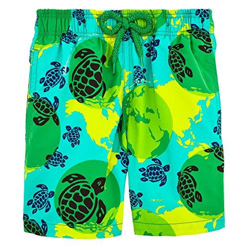 Vilebrequin Mappemonde Dots Swim Shorts - Boys - Veronese Green - 4Yrs by Vilebrequin