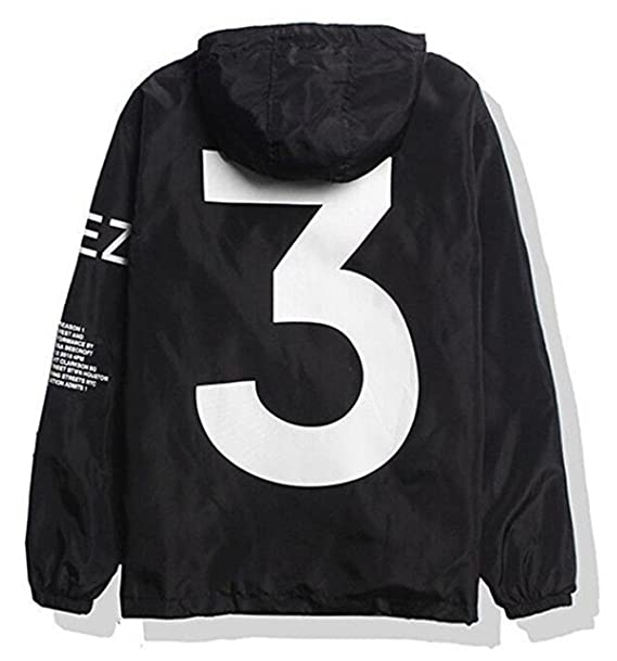 a2bc588330cd Showlovein Men Waterproof Letter Print Jacket Hip-Pop Long Sleeve ...