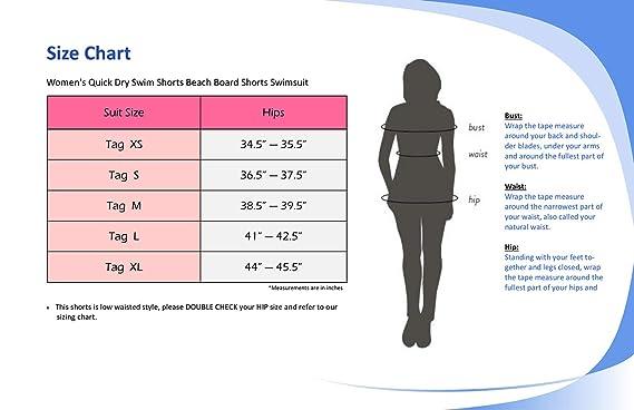0984c4b756 Amazon.com: Adoretex Women's Quick Dry Swim Shorts Beach Board Shorts  Swimsuit: Clothing